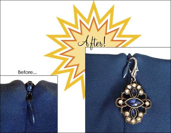 Zipper pulls, before & after!