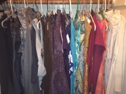 Closet Arranged by Color