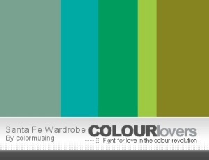 Santa Fe Wardrobe color palette