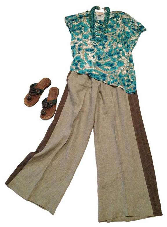 Side-Striped Linen Trousers