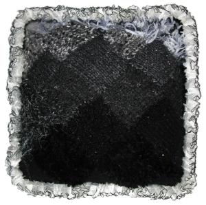 Entrelac Pillow in Fade to Black