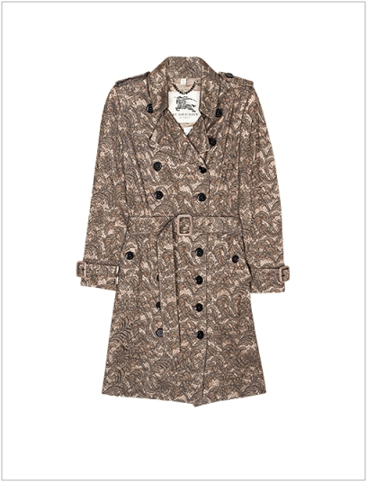 Lace-covered trench from Burberry