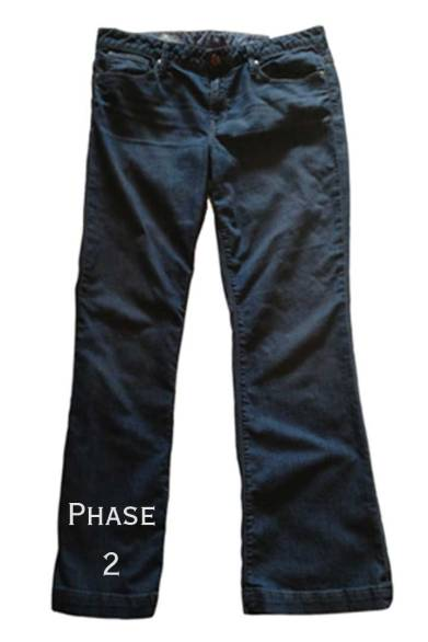 Jeans makeover, Phase 2