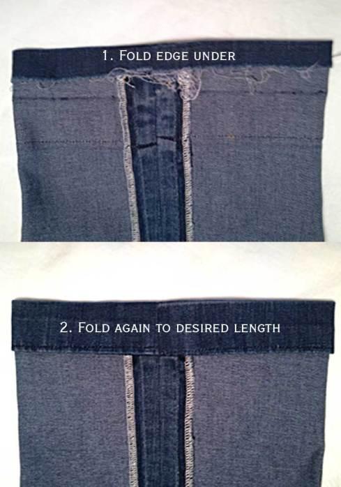 Folding hem before stitching