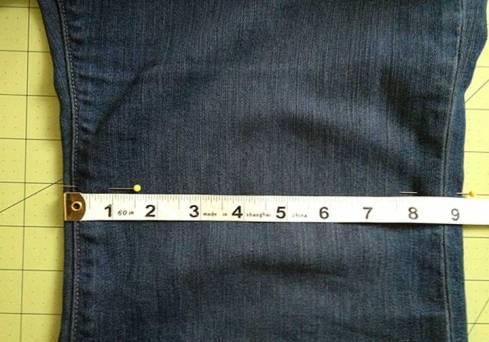 Pins marking seam start point