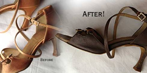 Dance shoes, before and after!