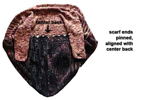 Cardi-Wrap pinned into cocoon