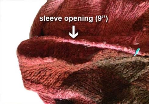 Sleeve opening