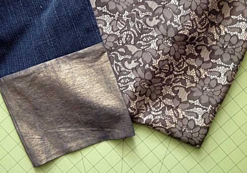 Fabric to line the bronze cuffs