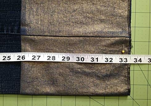 Checking the new inseam length