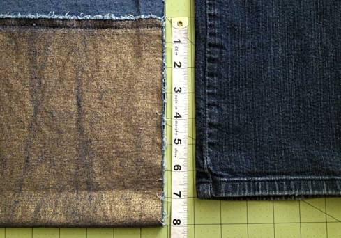 Measuring fabric and new inseam length