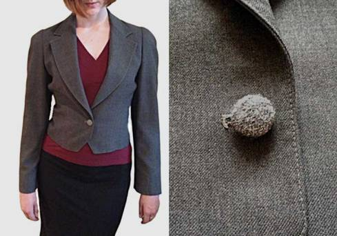 Jacket with its new button