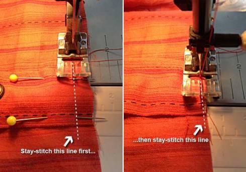 Stay-stitching