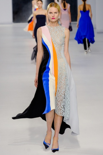 Christian Dior color-blocked dress