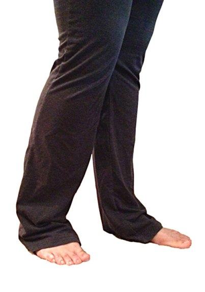 Thrift-shop yoga pants