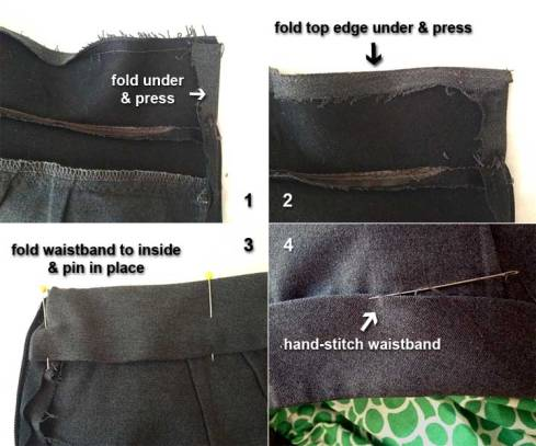 Finishing waistband
