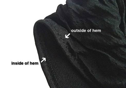 After stitching hem