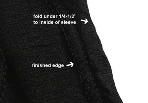 Fold finished edge under