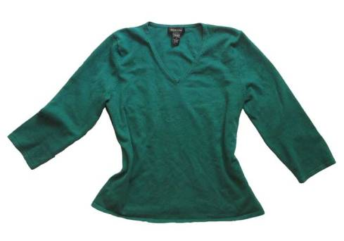 Jade silk-blend knit top