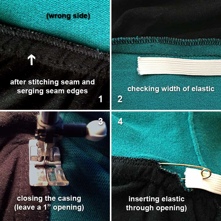 Sewing top to skirt
