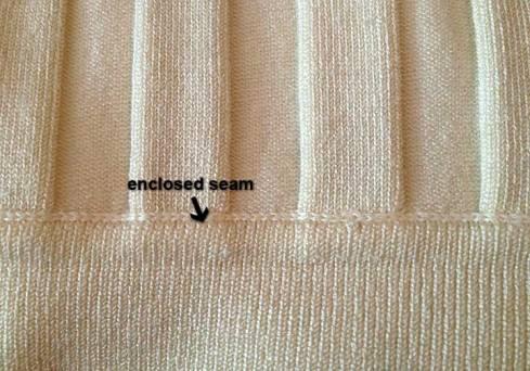 Enclosed seam