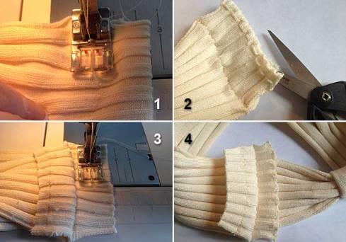 Sewing shoulder seams