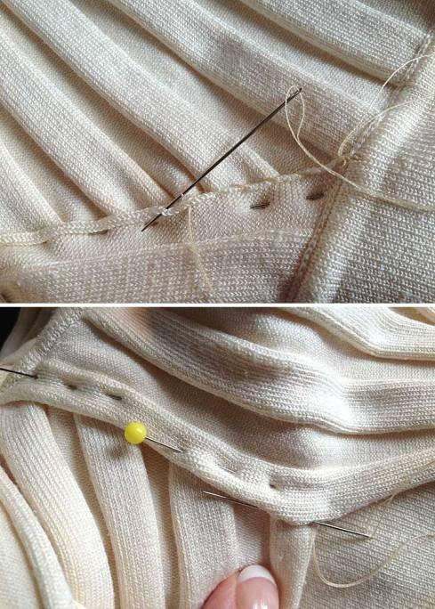 Stitching the center