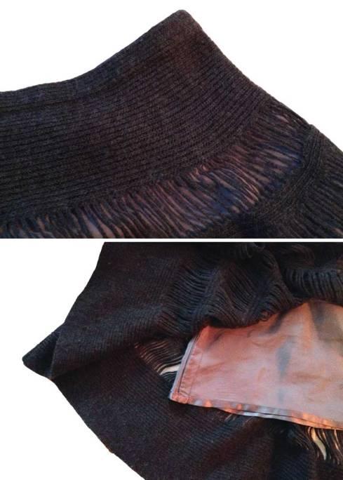 Grey skirt details