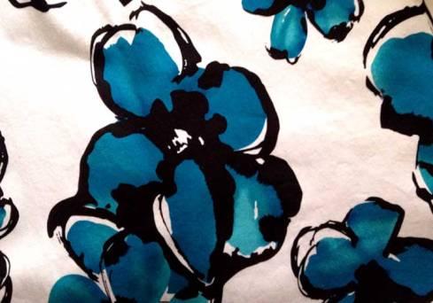 Stretch cotton print fabric
