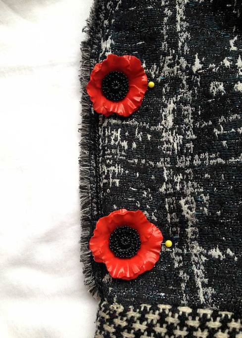 Trying poppy buttons