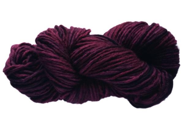 Aussi wool in Garnet