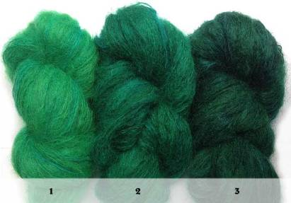 Ombré Emerald mohair set