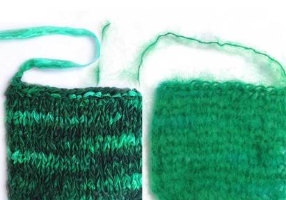 Emerald swatches.